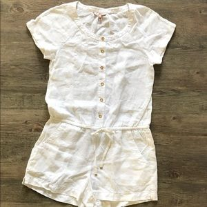 Juicy Couture White Linen Romper